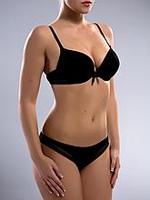 Комплект женского нижнего белья Acousma A6358BC-T6358H, цвет Черный, размер 80C-L