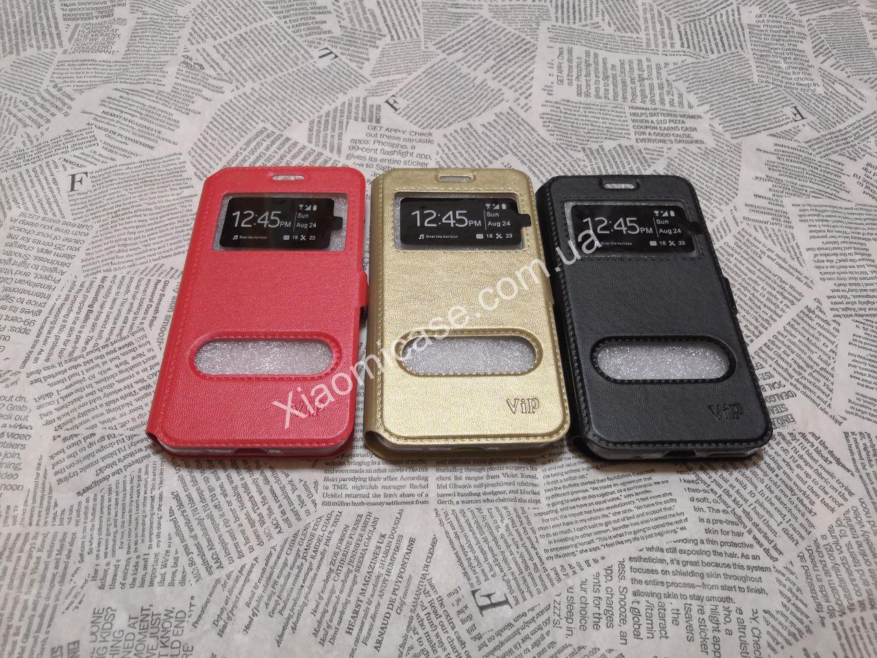 Кожаный чехол книжка VIP для Xiaomi (Ксиоми) Redmi Go