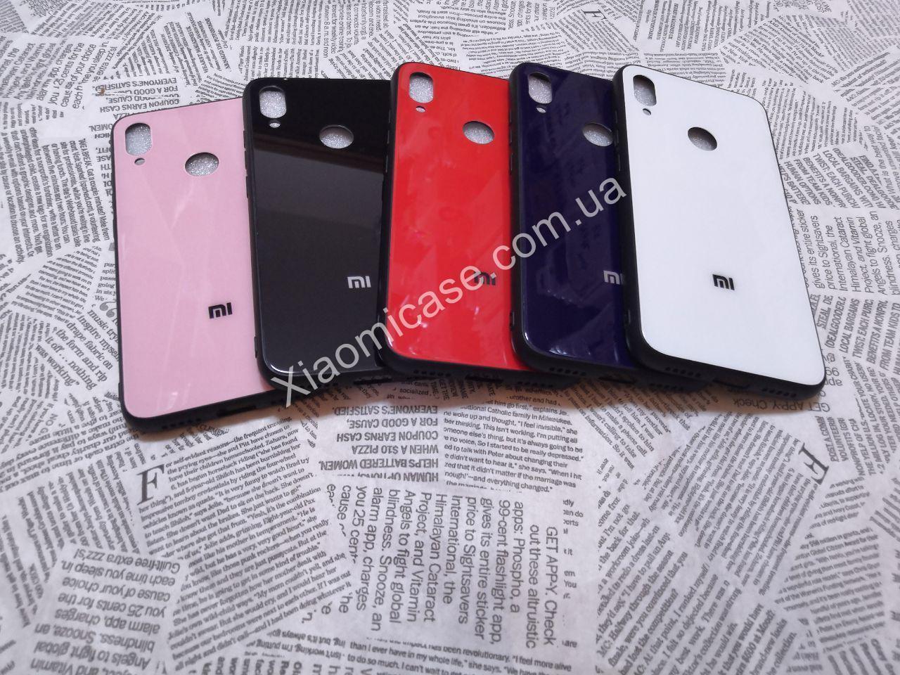 Чехол Стекло Бренд (обод силиконовый) для Xiaomi (Ксиоми) Redmi Note 7