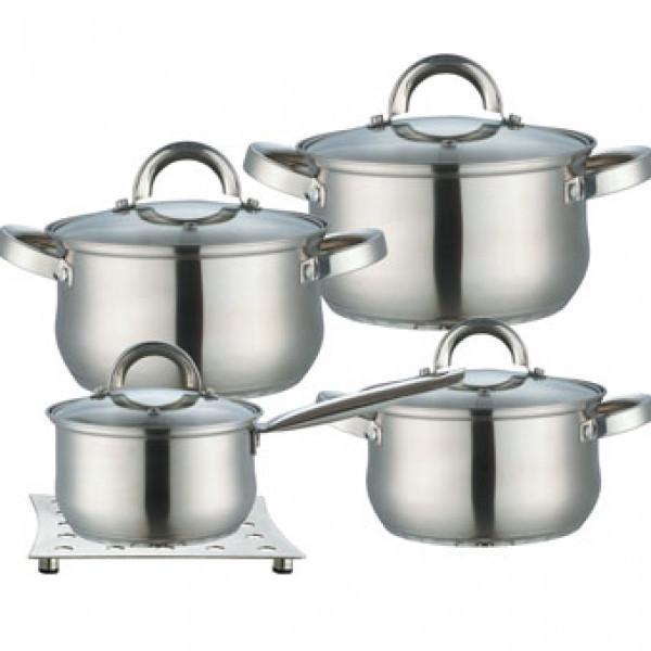 Набор кухонной посуды  из нержавеющей стали с толстым дном Maestro MR 2021