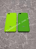 Брендовый чехол Silicone Cover накладка бампер для Xiaomi (Ксиоми) RedMi Go (зеленый и лайм)