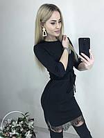Трикотажное платье с карманами Милена