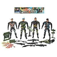 Солдат 8648C (96шт) солдаты 4шт, 15см, оружие, в кульке, 23,5-20-5см