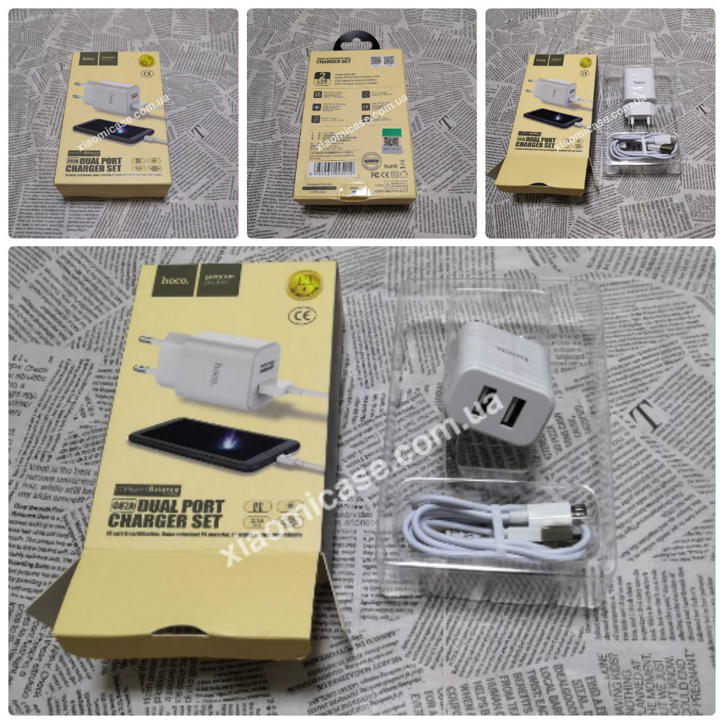Сетевое Зарядное Устройство Hoco C62A Micro 2USB