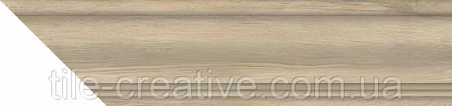 Керамический  гранит Плинтус Сальветти капучино горизонтальный левый 38,5х8х15,5 SG5401\BSS\SO