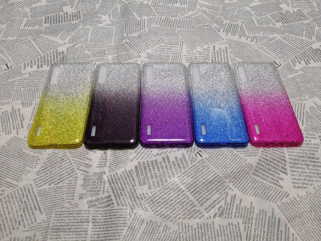 Блестящий силиконовый чехол Градиент для Xiaomi (Ксиоми) Mi A3 Pro / CC9