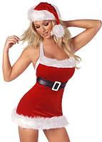 Новогодний костюм Санта, новогодний костюм снегурочки секси, снегурочка платье - туника