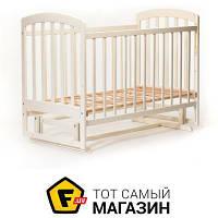 Детская кроватка Laska-M Лама маятник, ваниль