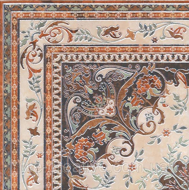 Керамічний граніт Декор Мармуровий палац килим кут лаппатированный 40,2х40,2х8 HGD\A174\SG1550L
