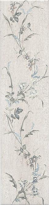 Керамический  гранит Кантри Шик белый декорированный 9,9х40,2х8 SG401600N