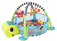 Детский развивающий коврик Черепаха ,манеж 3 в 1