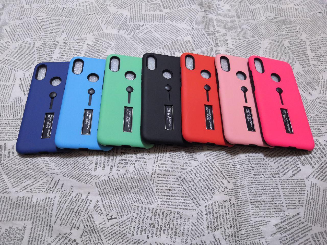 Чехол KickStand с подставкой (Пластик + силикон) для Xiaomi (Ксиоми) Redmi Note 7 (мятный)