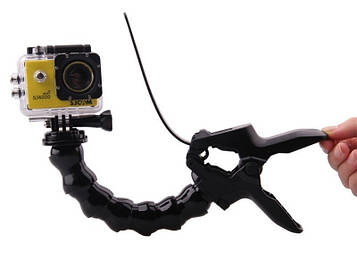Крепление прищепка SJCam с гибким штативом для камер SJ4000, SJ5000, M10 (SV)