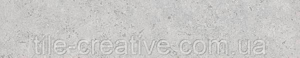 Керамический гранит Плинтус Сенат светло-серый обрезной 40,2х7,6х8 SG155800R\5BT