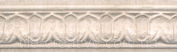 Керамічна плитка Бордюр Пантеон беж 25х7,5х14 BAC002