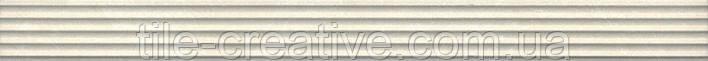 Керамическая плитка Бордюр Орсэ беж структура 40х3,4х9 LSA004