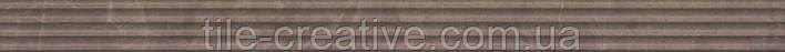 Керамическая плитка Бордюр Орсэ коричневый структура 40х3,4х9 LSA005