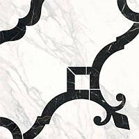 Керамическая плитка Декор Фрагонар наборный белый 1/4 розона 30х30х11 ID88