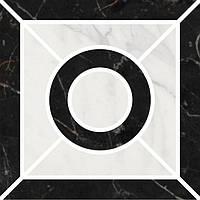 Керамическая плитка Декор Фрагонар наборный чёрный 9,9х9,9х11 ID94
