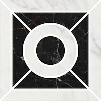 Керамическая плитка Декор Фрагонар наборный белый 9,9х9,9х11 ID93