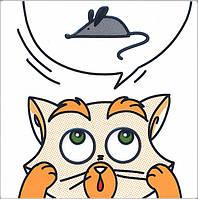 Керамическая плитка Декор Кошки-Мышки. Мышка 20х20х6,9 NT\A132\5009