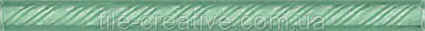 Керамическая плитка Карандаш Косичка зеленый 20х1,5х10 194