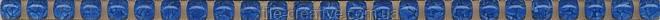 Керамическая плитка Карандаш Бисер синий 20х0,6х11 POD012
