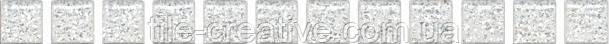 Керамическая плитка Карандаш Бисер белый серебро 20х1,4х12 POF001