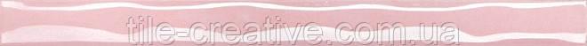 Керамическая плитка Волна розовый перламутр 25х2х12 106
