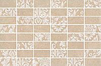 Керамическая плитка Декор Золотой пляж темный беж мозаичный 20х30х6,9 MM8263