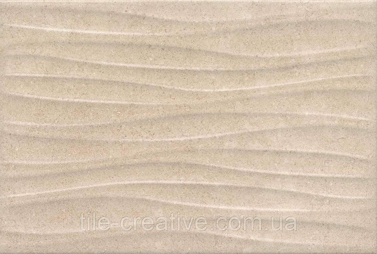 Керамическая плитка Золотой пляж темный беж структура 20х30х8,6 8274