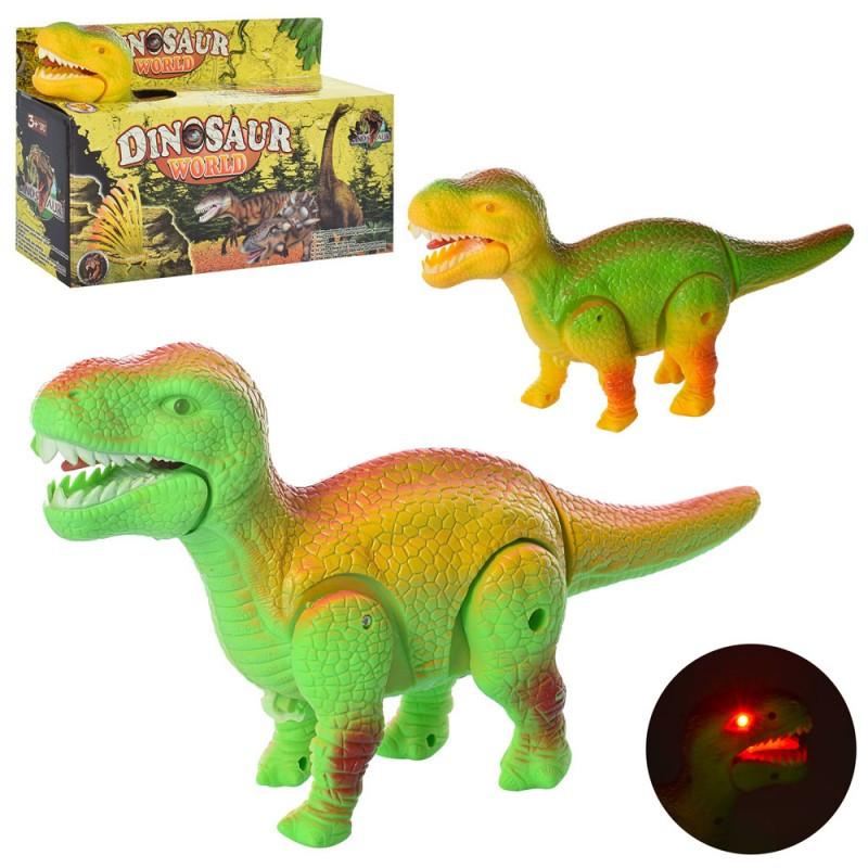 Іграшка динозавр із звуковими і світловими ефектами, ходить, 3809