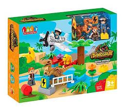 Конструктор JDLT 5410 (12/2) Динозавры, 36 деталей, 2 фигурки, в коробке