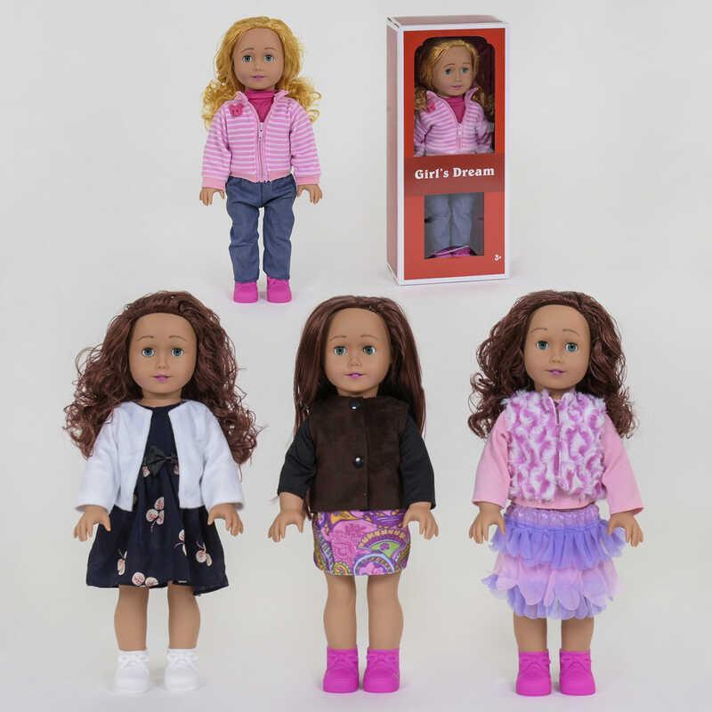 Кукла 8920 F (24/2) 4 вида, 45см, 1шт в коробке