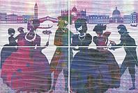 Керамическая плитка Панно Карнавал в Венеции 60х40х6,9 HGD\A197\4x\8275