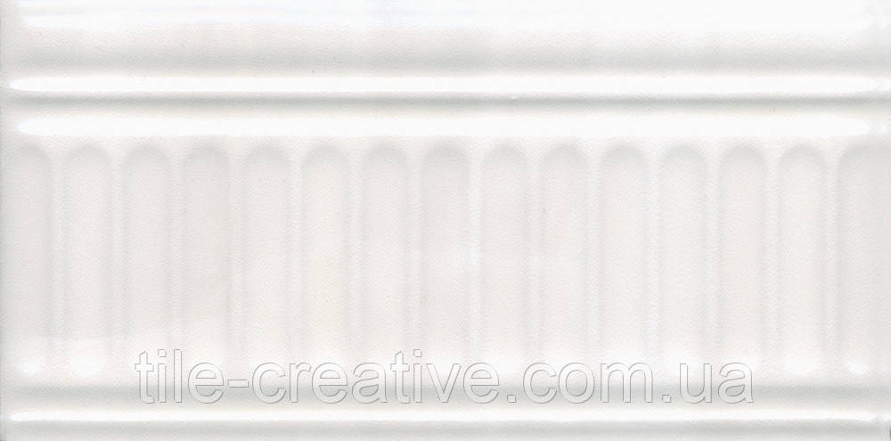 Керамическая плитка Бордюр Летний сад светлый структурированный 20х9,9х9,2 19016\3F