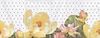 Керамическая плитка Панно Летний сад светлый 80х30х6,9 HGD\A56\4x\8259