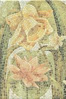 Керамическая плитка Декор Летний сад Лилии лаппатированный 20х30х6,9 HGD\A145\880L