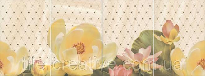Керамическая плитка Панно Летний сад беж 80х30х6,9 HGD\B56\4x\8260