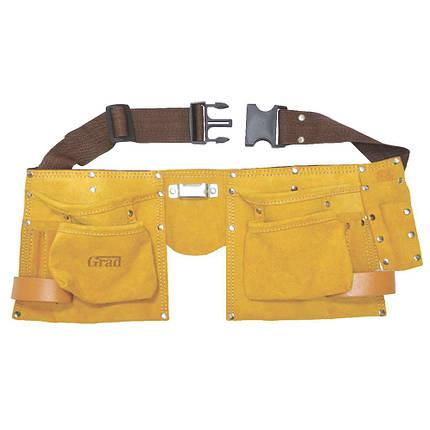 Пояс слесарный (кожаный) 11 карманов Grad (9450765), фото 2