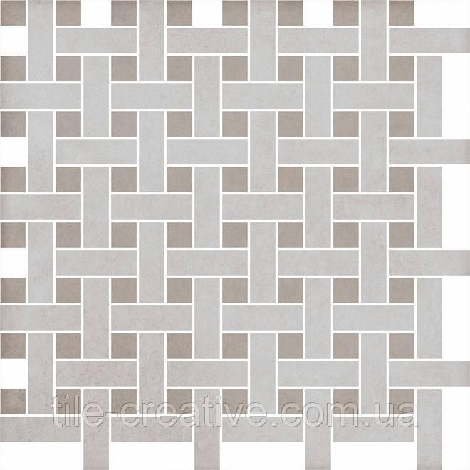 Керамическая плитка Декор Марчиана беж мозаичный 42,7х42,7х8 SG183\003