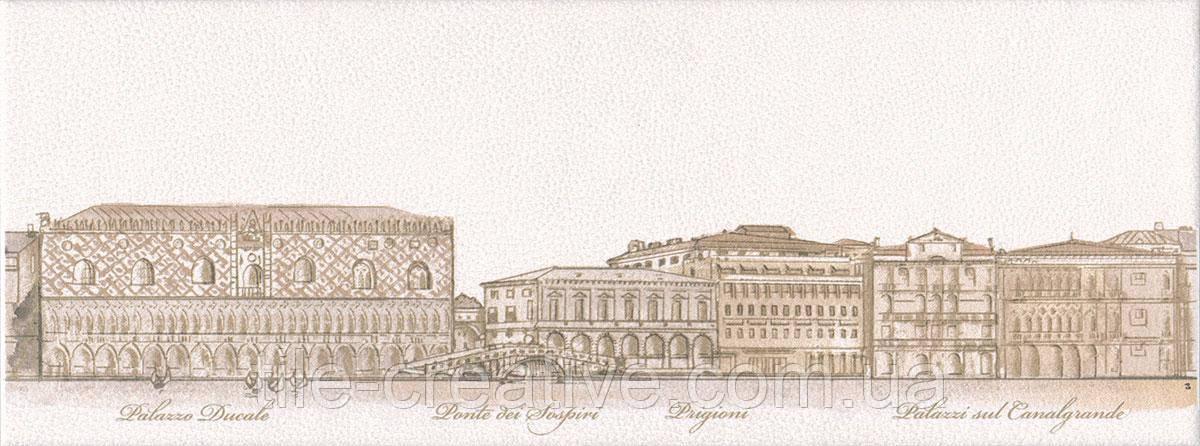 Керамическая плитка Декор Сафьян Панорама Venezia 15х40х8 STG\A578\15061
