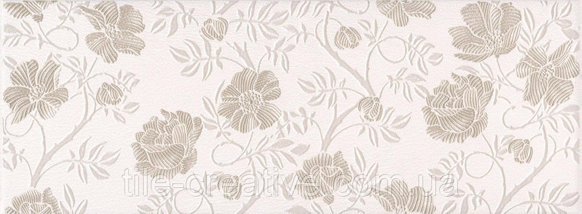 Керамическая плитка Декор Сафьян Цветы 15х40х8 AR146\15054