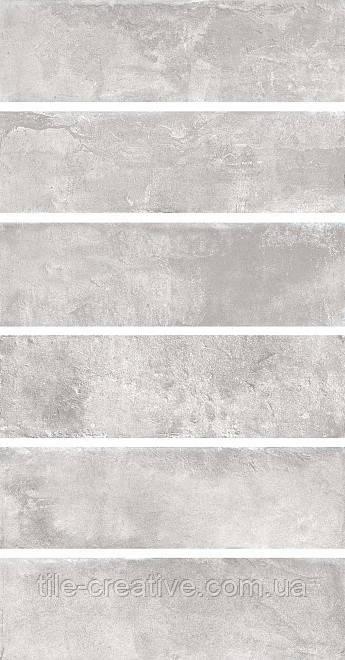 Керамическая плитка Маттоне серый светлый 8,5х28,5х9 2912