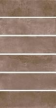 Керамическая плитка Маттоне коричневый 8,5х28,5х9 2908