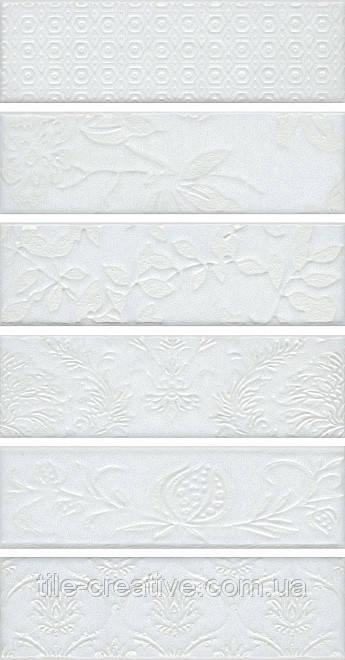 Керамическая плитка Панно Кампьелло белый 51х28,5х7/AD\A333\6x\2914 AD\A333\6x\2926