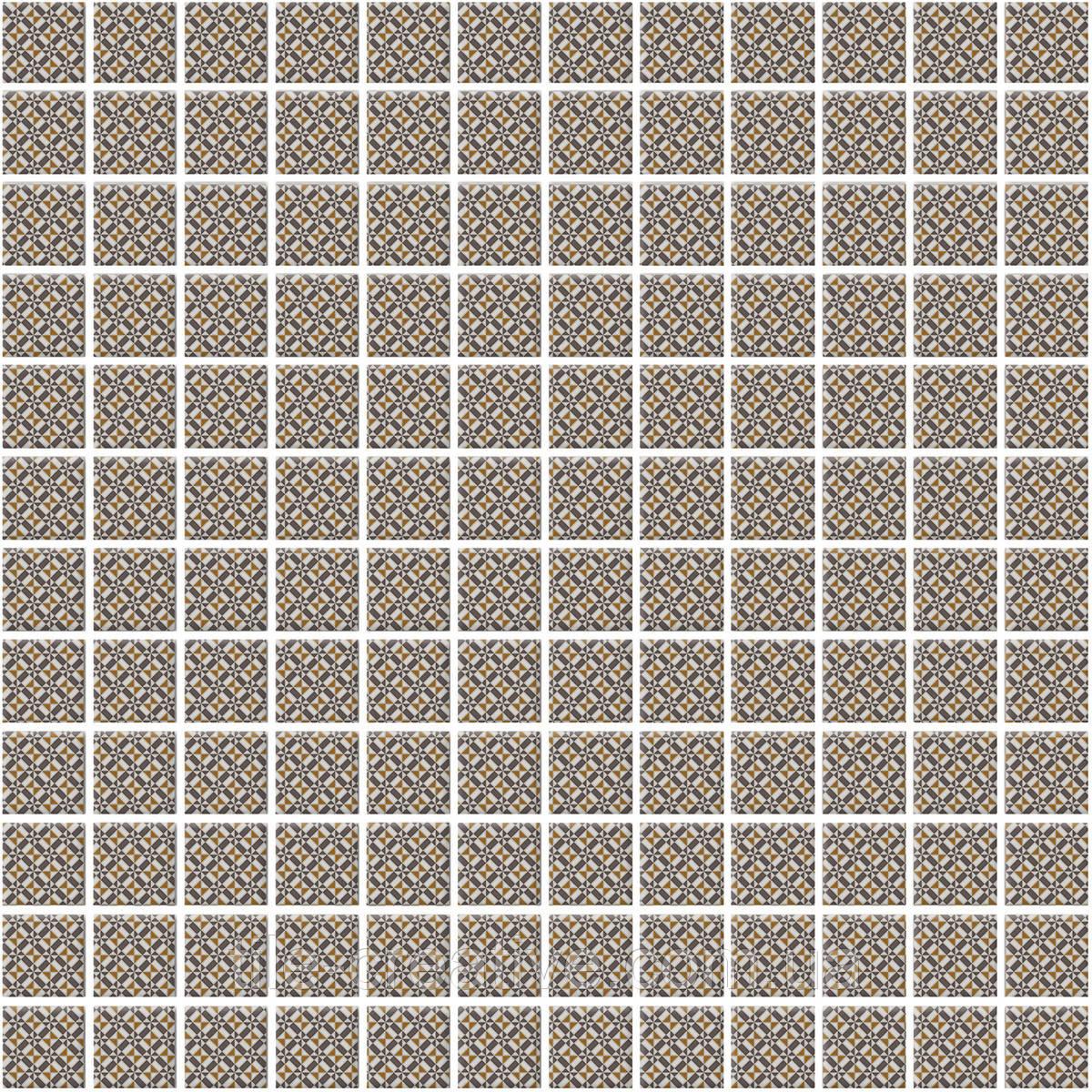 Мозаика Кастелло орнамент беж 29,8х29,8х3,5 20104