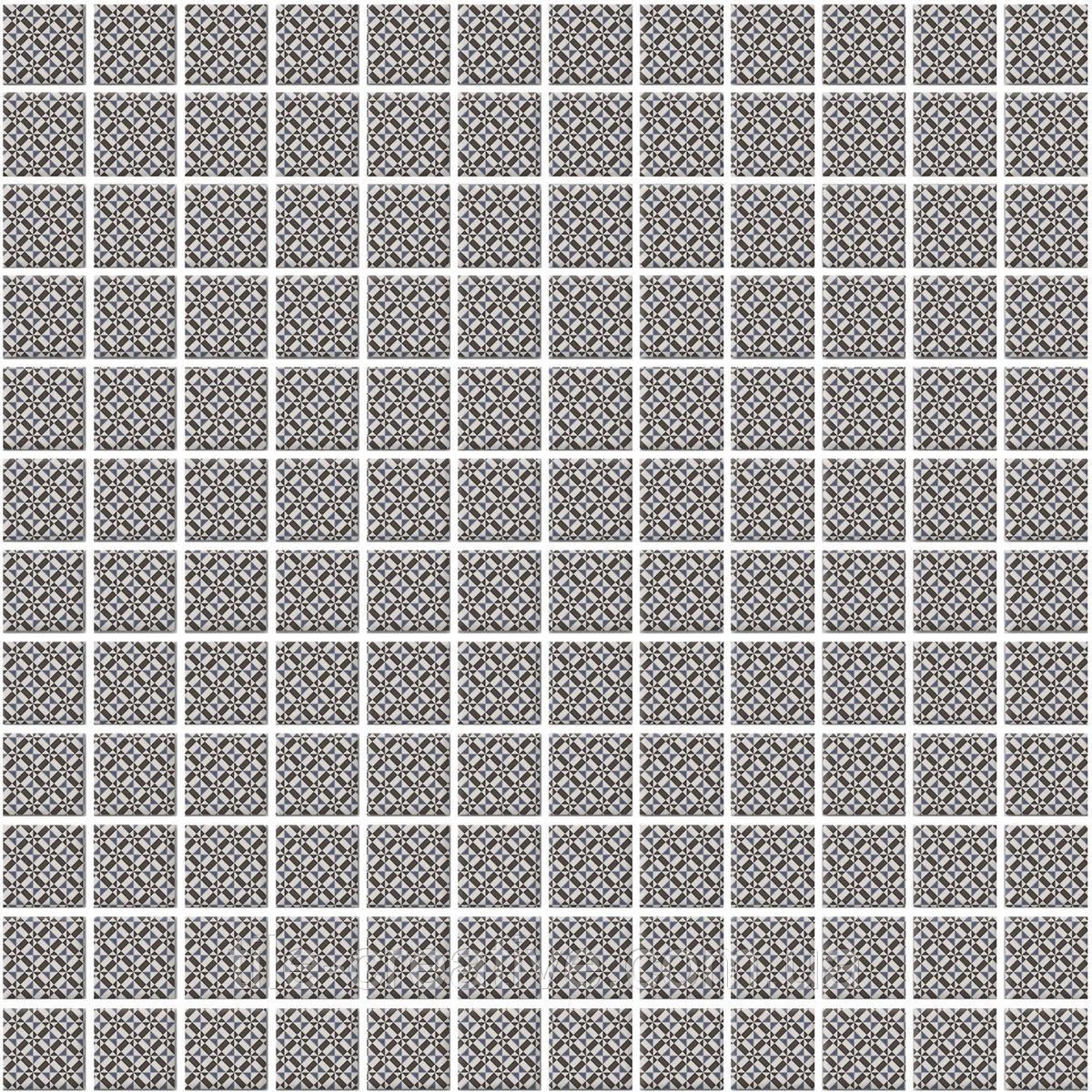 Мозаїка Кастелло орнамент сірий 29,8х29,8х3,5 20108