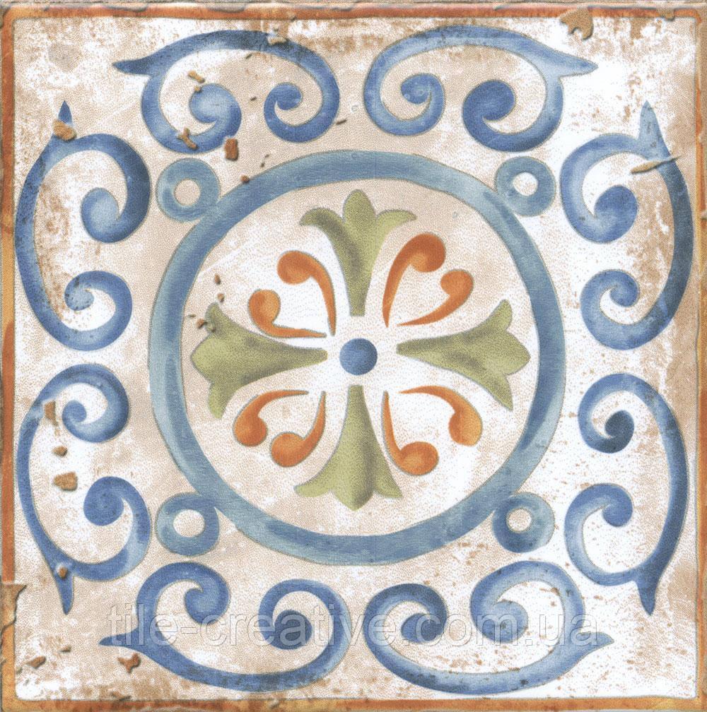 Керамическая плитка Декор Виченца Майолика 15х15х6,9 HGD\A152\17000