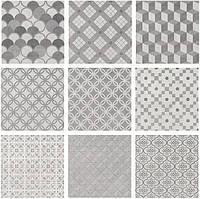 Керамическая плитка Карнаби-стрит орнамент серый 20х20х8 SG1576T